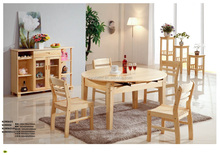 Imported solid scotch pine wood dining round table
