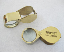 Gold Jewelery Loupe/ folding magnifying glass for diamond