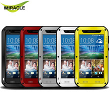 Original LOVE MEI Waterproof Case Aluminum Metal Cover Case For HTC Desire 820 Phone Case