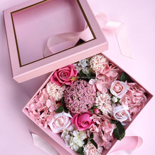 2016 Luxury Round Flower Box Rose Box with clear window