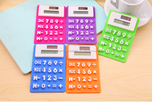 Promotional Two Power Silicone Mini Pocket Scientific Calculators
