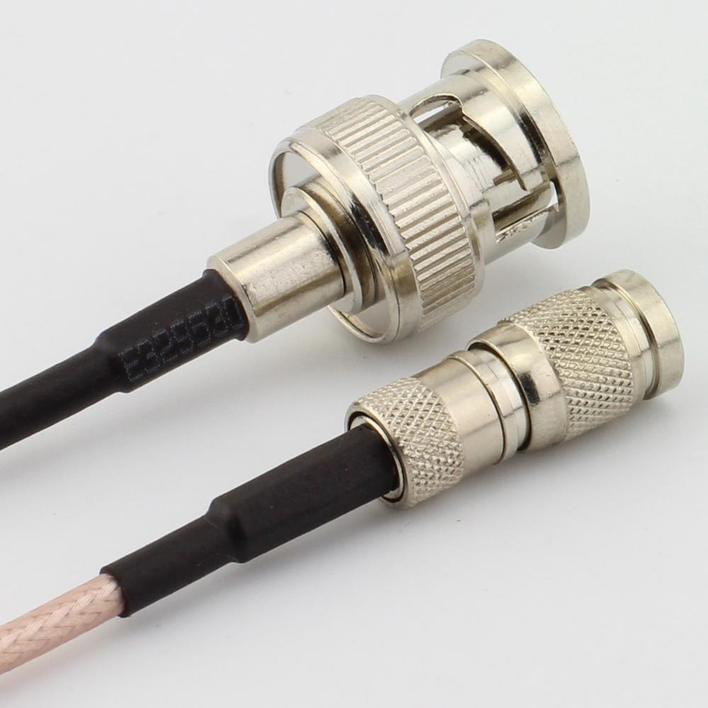Rf Coaxial Male Female Bnc Connector On Coaxial Cable