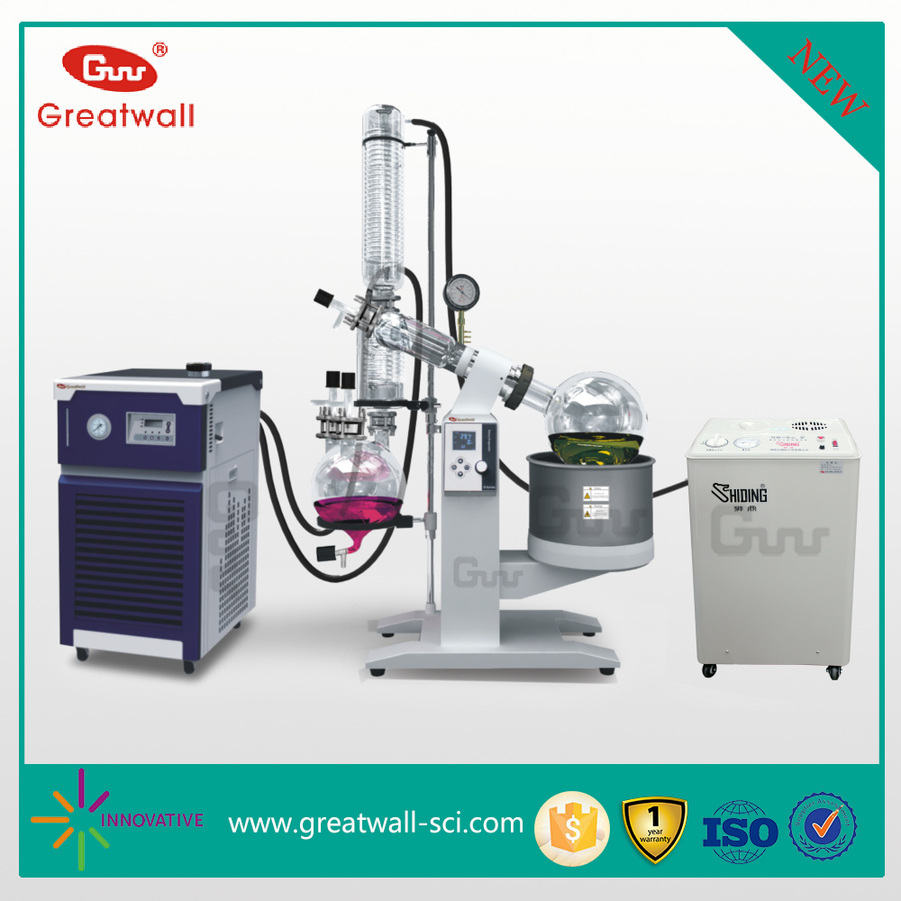10L Double Cold Trap Intelligent Industrial Vacuum Distillation Rotary Evaporator System
