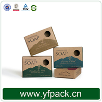 Guangzhou Factory Cheap Price Brown Kraft Paper Handmade Cleansing Soap Packaging Box with Die- cut Window
