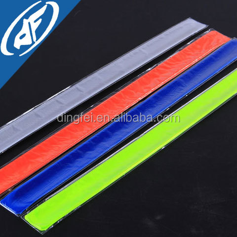 reflective arm beam warning wristbands reflective velcro wrist bands
