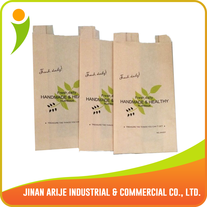 Greaseproof Snack food paper bag with PP window
