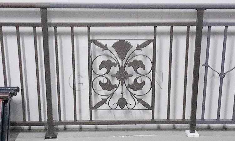 Ornamental wrought iron veranda iron balcony fence decorative garden fencing buy iron balcony - Veranda decoratie ...