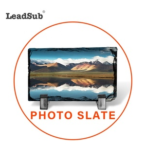 Hot Selling Rock Photo Slate Rock Stone Photo Frame For Sublimation Printing 15*20cm