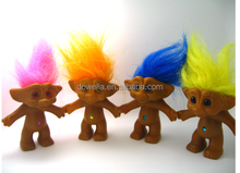 hot sell Lucky Indian Trolls doll with colourful hair