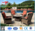 Modern Garden Leisure Patio Furniture Wicker Rattan Sofa Chair Set