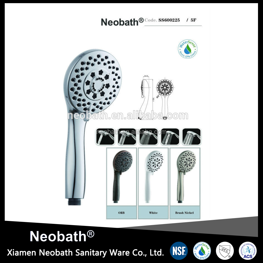 5 functions chrome faceplate Shower Head, Oxygenic shower