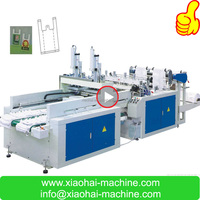 HAS VIDEO two lines full automatic t-shirt bag making machine