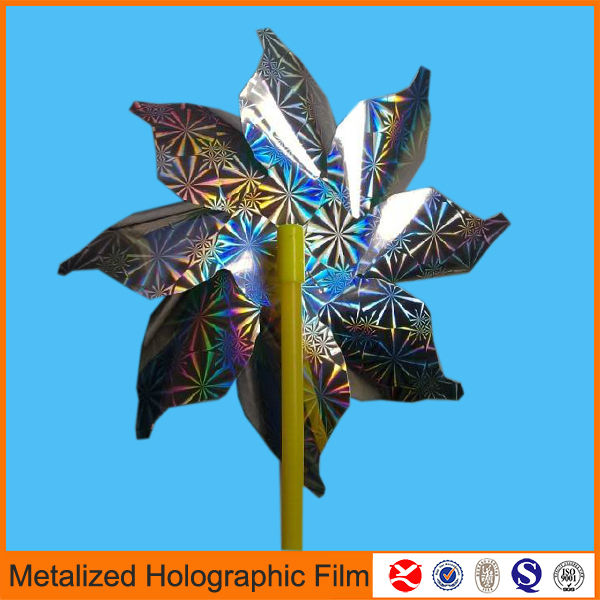 laser holographic metallized polyester plastic film