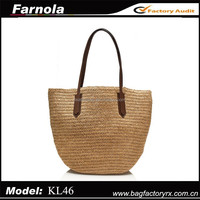 New arrival wholesale lady handbags brand name designer straw bag