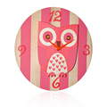 Top selling DIY animal collections cartoon Kids wall clock-OWL kids colorful clocks