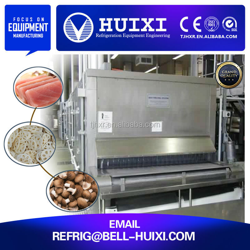 Shrimp Meat/Fish Meat Industrial IQF Freezer