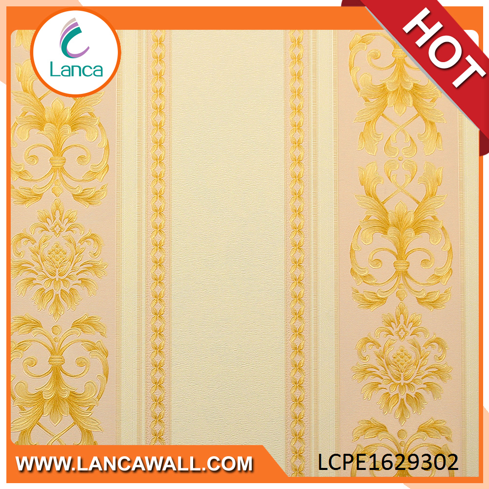 2017 Low Price Wall Fabric Backed Vinyl Wallcovering for Hotel Project