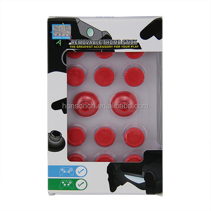 Assorted Color Removable Thumbstick 3D Joystick Caps for PS4 Controller Replacement Parts