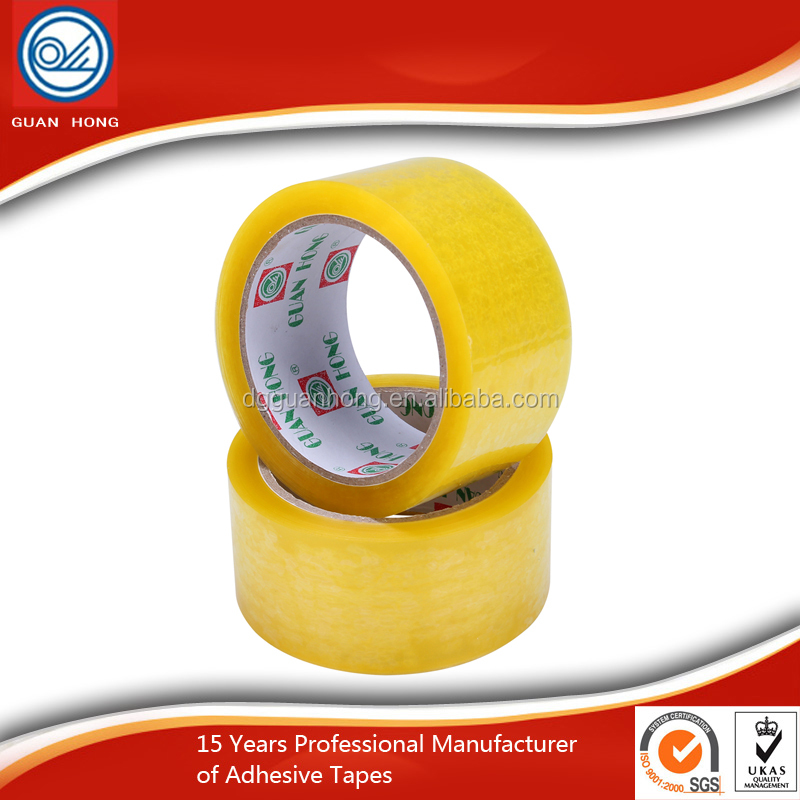 High Adhesive Bopp Gum Narrow Yellow Bopp Carton Sealing Tape