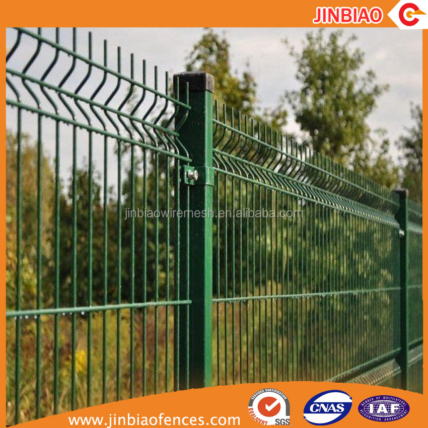 Hebei Jinbiao steel wire mesh fence panel 3d bending welded mesh fence