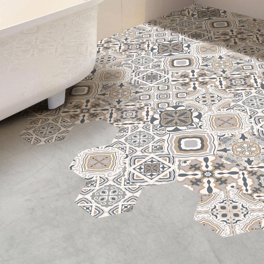 Classic Floor Flower Tiles Design 20x20 Porcelain Bathroom Tile