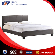 China wholesale synthetic leather double bed , factory prices modern bedroom furniture
