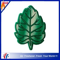 promotional leaf design paper car air freshener