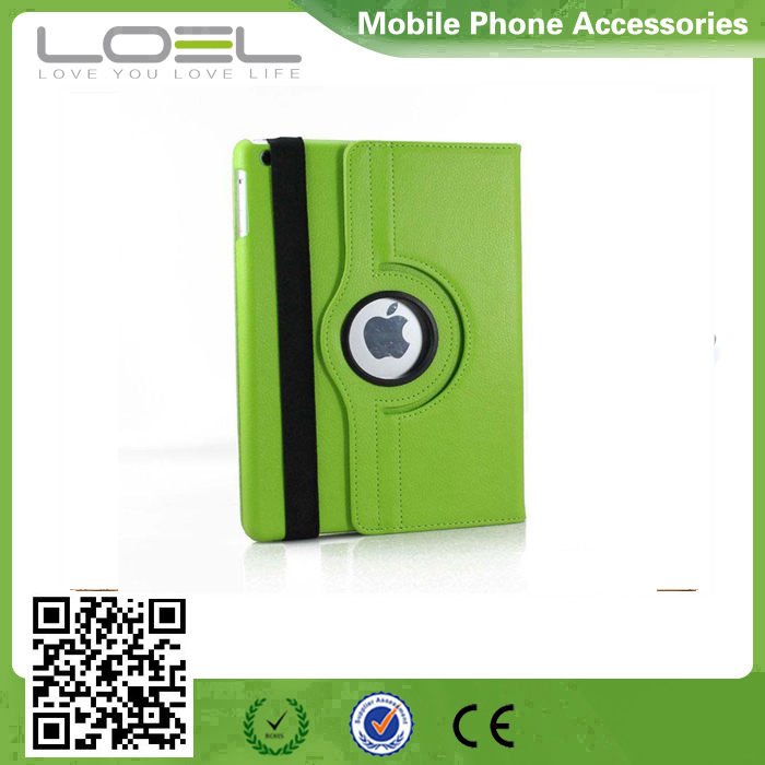 360 degree rotation leather holder for ipad/2/3/4 mini Air/Air2 leather case