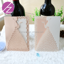 Wholesale Party Supplies Customized Nepali Marriage Invitation Card wholesale wedding party favor elegant laser cut pocket style