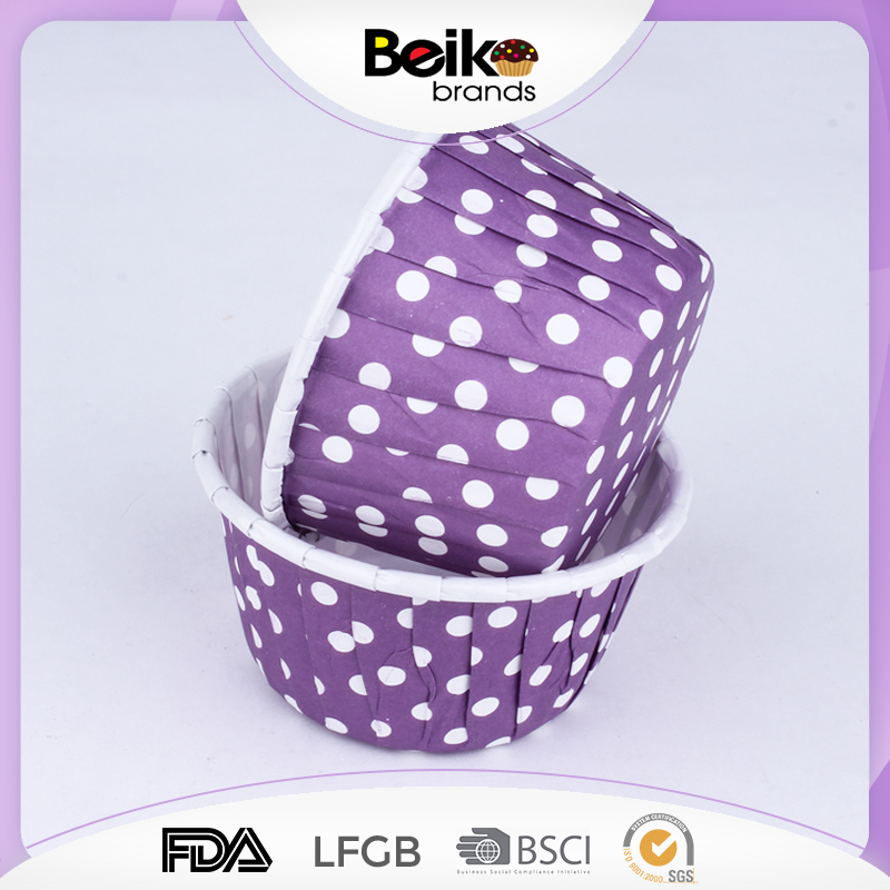party supply volume purple polka dot roll mouth disposable cup cake cases with polka dot wholesale cupcake paper bakeware