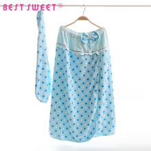 manufacture custom 100% cotton women shower cap bath robes for girl