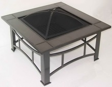 Fire Pit Table Square Granite Top Dia.34inch