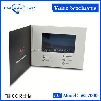Artifical type new invitation card lcd video mailer for ads