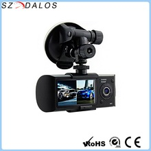 Car multi camera dvr 2.7 dual camera gps g-sensor car dvr r300 gps dual camera car-dvr firmware