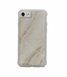 Marble PU TPU mirror mobile phone case for iPhone 6 6S 7