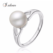 Wholesale 925 silver original pearl ring mountings for women R30127