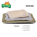 BSCI Factory Supply Soft Pet Dog Bed with Middle Fur dog Sleeping Cushion mat