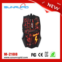 2014 Newest USB wired gaming mouse LOL DOTA mouse breathing lamp top computer optical mouse 2400 dpi with two color