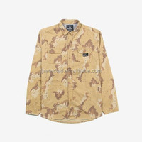 OEM Service for 100% Cotton camouflage print ribstop Men's Casual Shirts, Long Sleeves per-washed in stock