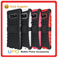 [UPO] For Samsung Note 8 Cell Phone Case, Football Tire Strong Kickstand Hybrid TPU PC Rugged Protective Note 8 Case