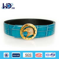 Newest style shiny rhinestone leather belt