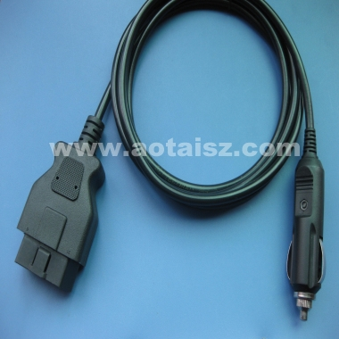 Male OBD II To Cigarette Lighter Adapter