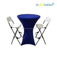 Bar Furniture Plastic Foldable High Top Cocktail Tables,cheap Folding Bistro Table