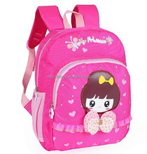 Pink girl backpack blue boy school bag kids book bag