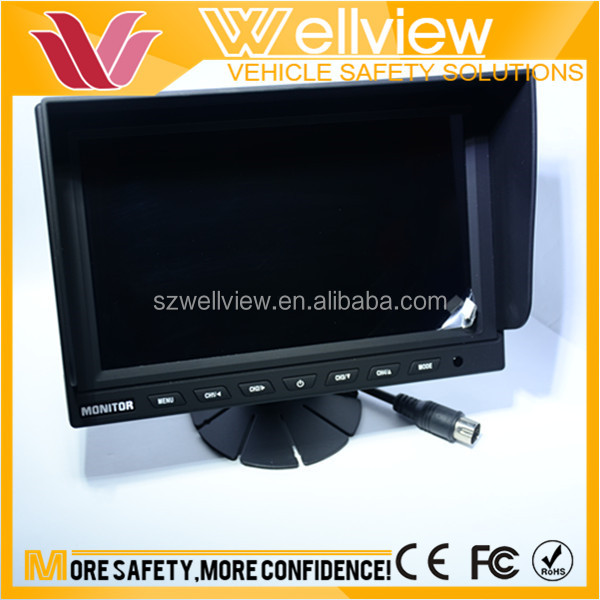 800*480 resolution 9inch color car reverse 12 volt dc lcd monitor