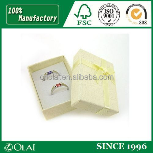 2015 YIWU new design yellow jewellery ring box