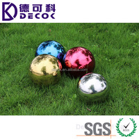 Factory price big mirror ball large stainless steel rainbow gazing garden ball