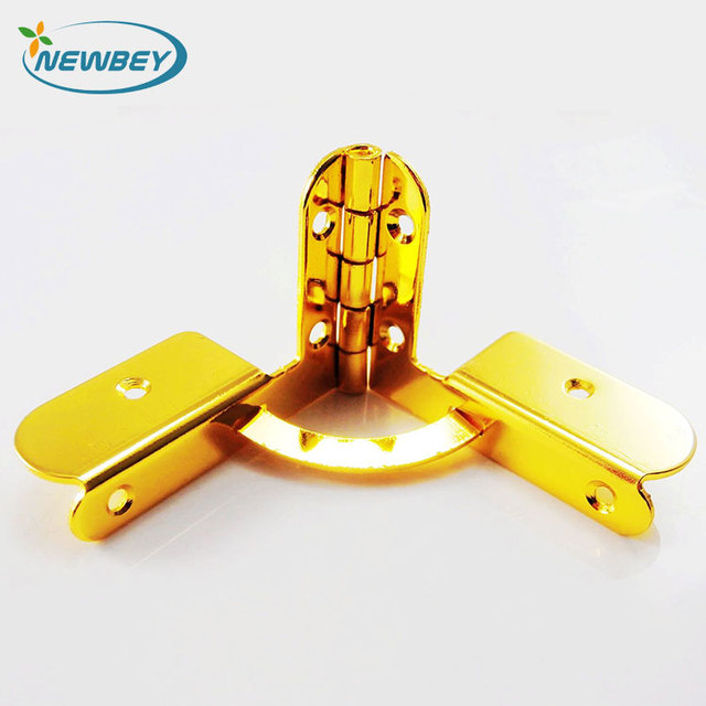 High quality golden jewelry box quadrant hinges BI202 in 43*31mm