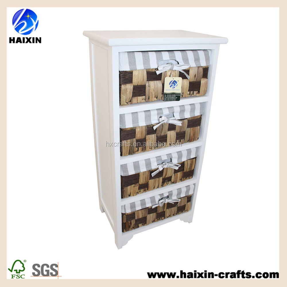 Wooden Wicker Chest Drawers Storage Unit Cabinet Furniture Cupboard