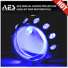 AES-MG2 Motorcycle bi-xenon projector lens with angel eyes ring for H4 xenon headlight